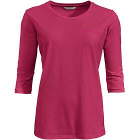 VAUDE Skomer 3/4 T-Shirt Women, rojo